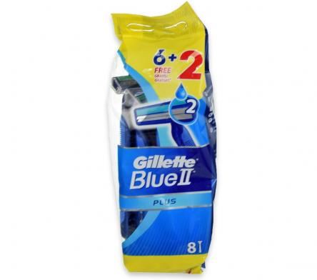 Gillette blue ii  plus 6 + 2