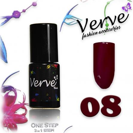 Verve nails smalto 6 ml one step 3 in 1 n. 08