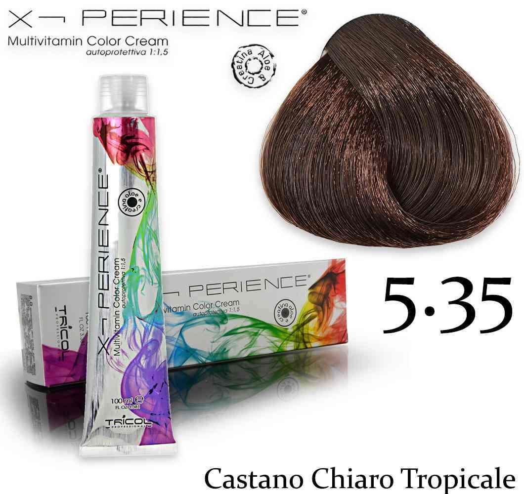 X - perience color cream 100 ml 5,35 castano chiaro tropicale