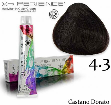X - perience color cream 100 ml 4.3 castano dorato