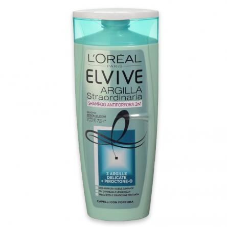 Elvive shampoo 250 ml argilla straordinaria 2 in 1 antiforfora