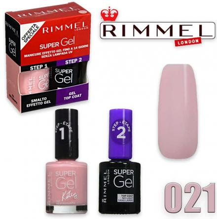 Rimmel smalto super gel duo kit 21