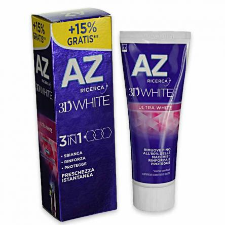 Az dent. 3d  75 ml ultra white (15% gratis)