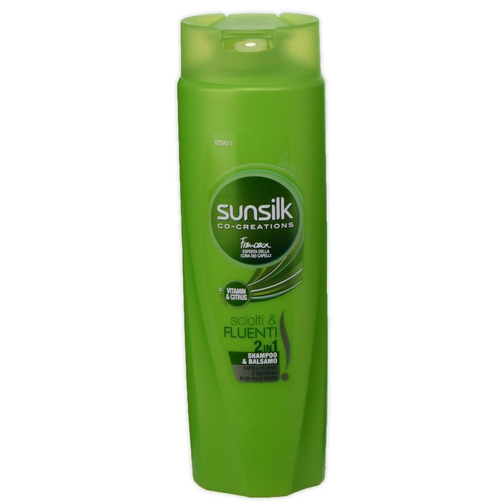Sunsilk shampoo 250 ml 2 in 1 sciolti e fluenti