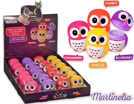 Martinelia owl lip balm assortiti