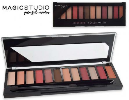 Magic studio 12 eyeshadows palette bright colors