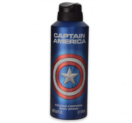 Captain america colonia corpo aluminium 200 ml