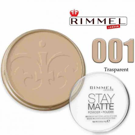 Rimmel cipria stay matte 001 transparent
