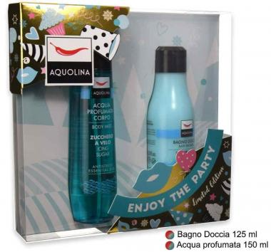 Coffret aquolina profumo corpo 150 ml + bagno 125 ml blue