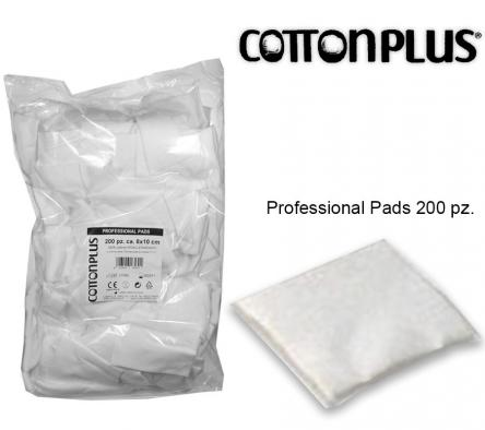 Cotton plus 200 pz professional pads 8 x 10 cm in 100 % cotone