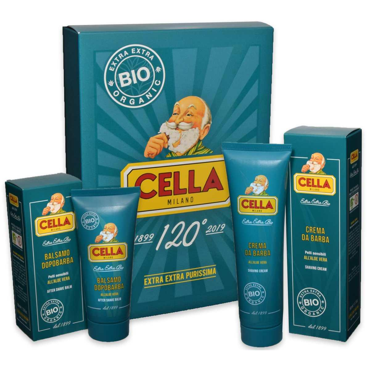 Cella milano crema da barba bio 150 ml + bls dopo barba 100 ml