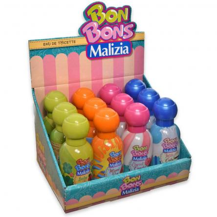 Bon bons malizia edt 50 ml expo x 12 pezzi assortiti