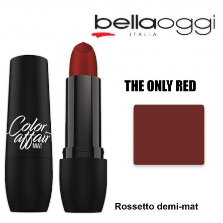 Color affaire mat rossetto demi-mat the only red