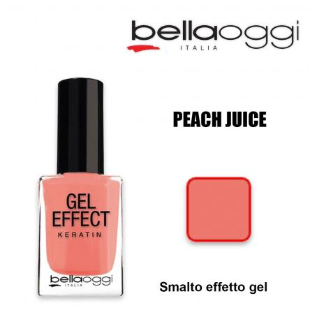 Gel effect keratin smalto effeto gel con cheratina peach juice