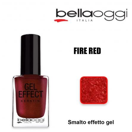 Gel effect keratin smalto effeto gel con cheratina fire red