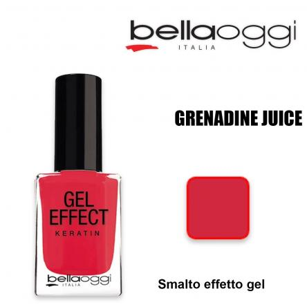 Gel effect keratin smalto effeto gel con cheratina granadine juice