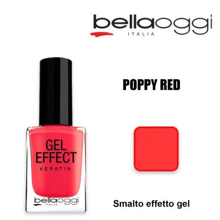 Gel effect keratin smalto effeto gel con cheratina poppy red