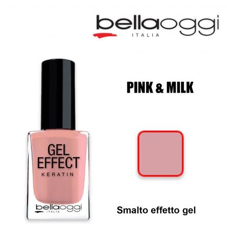 Gel effect keratin smalto effeto gel con cheratina pink & milk