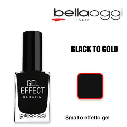 Gel effect keratin smalto effeto gel con cheratina black to gold