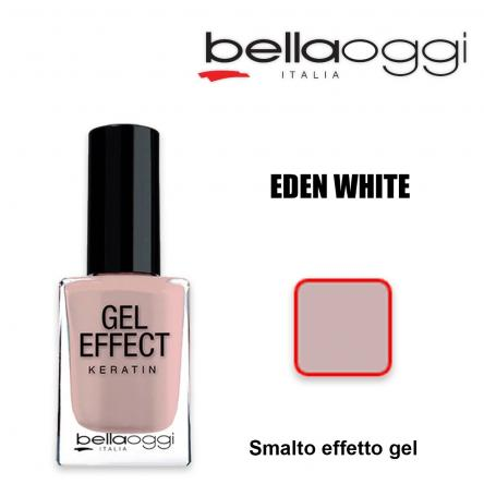 Gel effect keratin smalto effeto gel con cheratina eden white