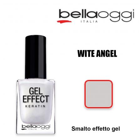 Gel effect keratin smalto effeto gel con cheratina white angel
