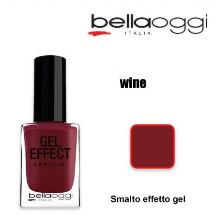 Gel effect keratin smalto effeto gel con cheratina wine