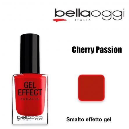 Gel effect keratin smalto effeto gel con cheratina cherry passion