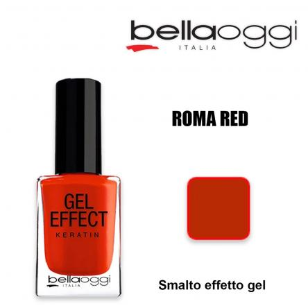 Gel effect keratin smalto effeto gel con cheratina roma red