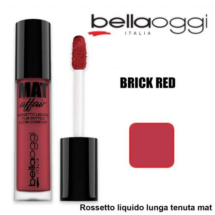 Mat affair rossetto liquido lunga tenuta brick red