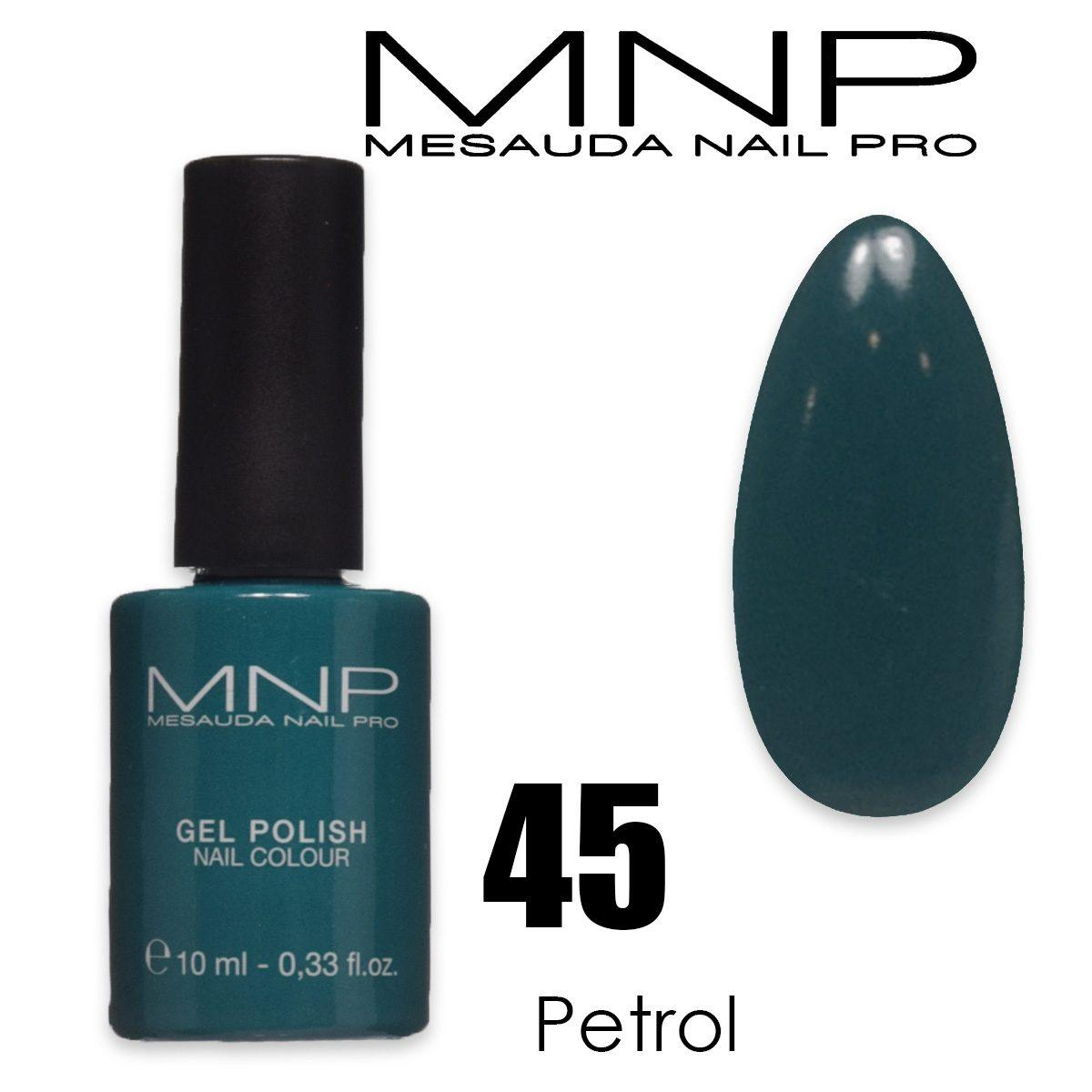 Mesauda 10 ml gel polish 045 petrol