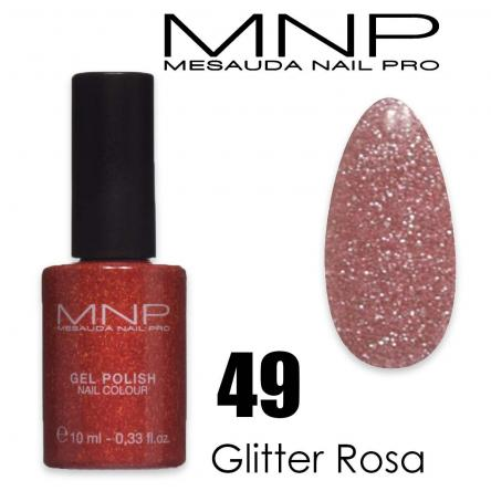 Mesauda 10 ml gel polish 049 glitter rosa