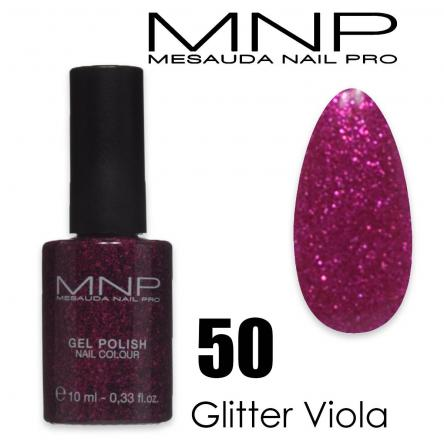 Mesauda 10 ml gel polish 050 glitter viola