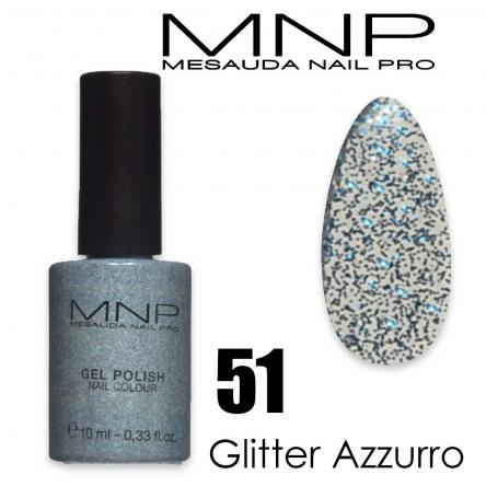 Mesauda 10 ml gel polish 051 glitter azzurro