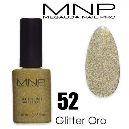 Mesauda 10 ml gel polish 052 glitter oro