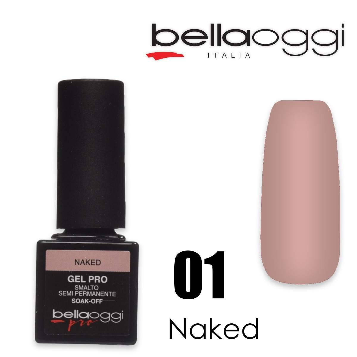 Bella oggi gel pro semipermanente 01 naked