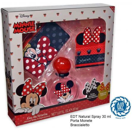 Minnie set edt 30 ml + portamonete + braccialetto