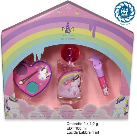 Eau my unicorn set edt 100 ml + lucidalabbra + ombretti