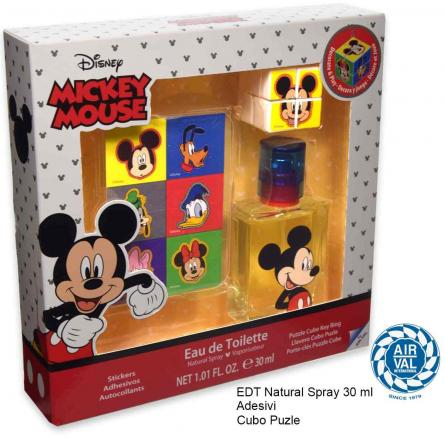 Mickey set edt 30 ml + adesivi + cubo puzle