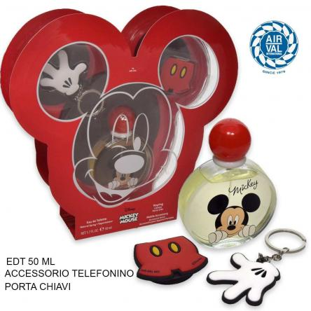 Mickey set edt 50 ml + portachiavi + accessorio smartphone