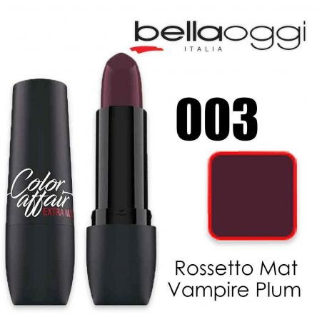 Color affair extra mat rossetto mat vampire plum