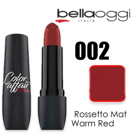 Color affair extra mat rossetto mat warm red