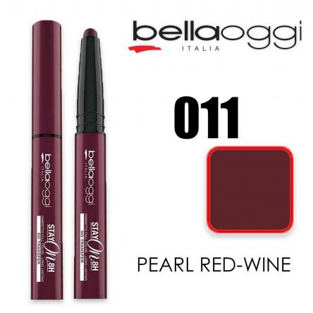 Stay on ombretto stylo tenuta  8h no transfer pearl red wine
