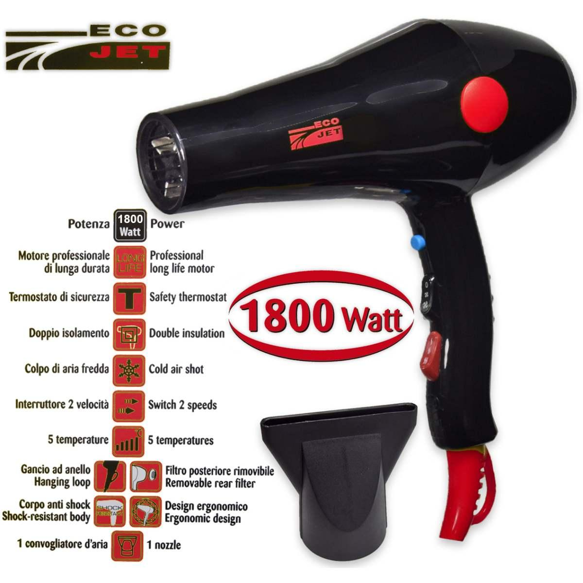 Phon new eco jet 1800 watt nero