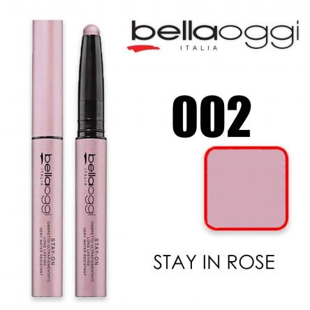 Stay on ombretto 8h ultrapigmentato stay in rose