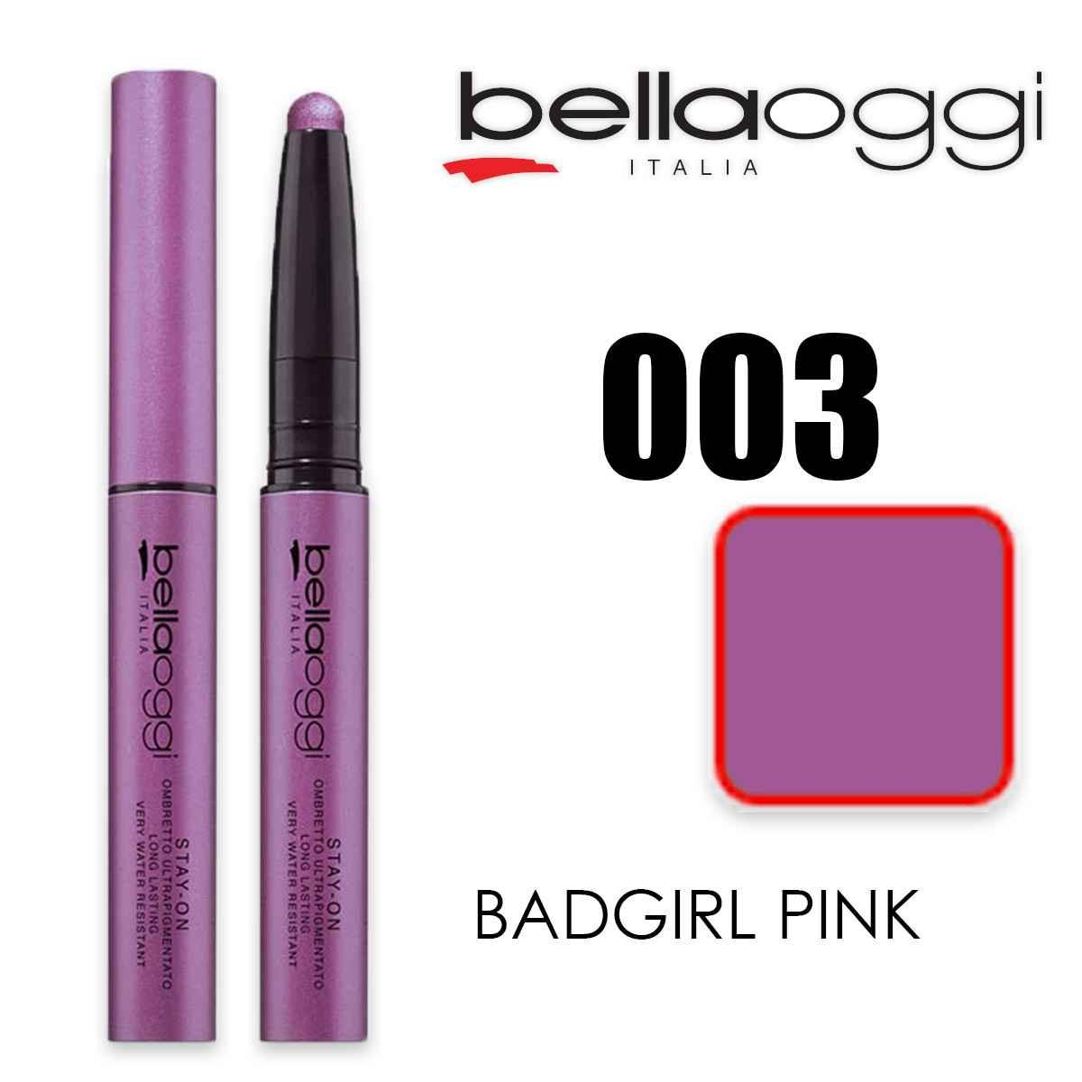 Stay on ombretto 8h ultrapigmentato badgirl pink