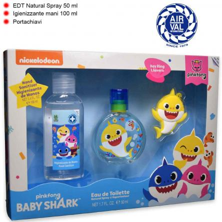 Baby shark set edt 50 ml 9+ shower gel 100 ml + llavero