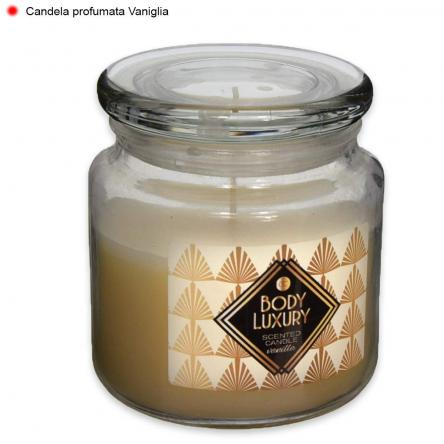 Candela profumata body luxury in vetro