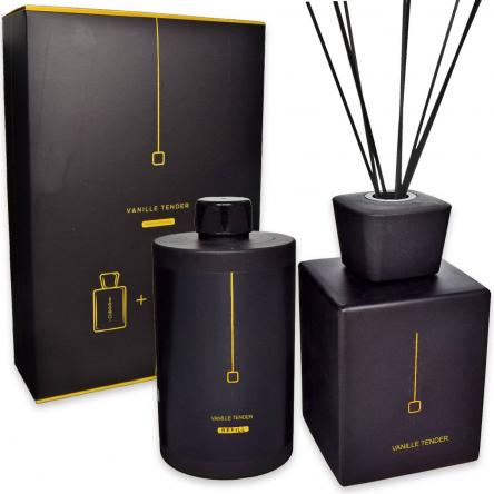 Coffret roomoi reed diffusore di fragranze 500 ml + 500 ml vanille tender