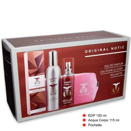 Coffret edp 150 ml + epc 115 ml + pochette original notic
