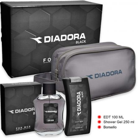 Diadora black edt 100 ml + shower gel 250 ml + beauty